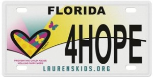 Laurens Kids License Plate